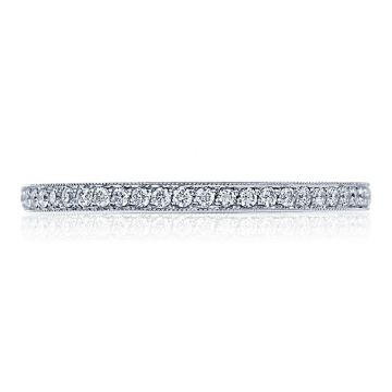 Tacori Platinum Ribbon Eternity Diamond Women's Wedding Band