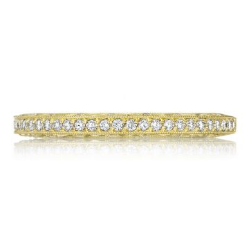 Tacori 18k Yellow Gold Classic Crescent Anniversary Diamond Women's Wedding Band