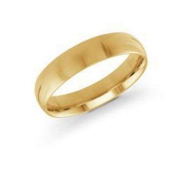 Malo Bands | 14 KT Yellow Gold High Polish 5mm Wedding Band