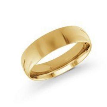 Malo Bands | 14 KT Yellow Gold High Polish 6mm Wedding Band