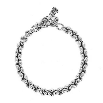 King Baby Sterling Silver Small 6.6mm Infinity Link Bracelet