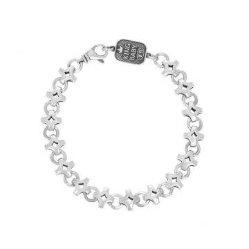 King Baby Sterling Silver Dimaond Link Bracelet