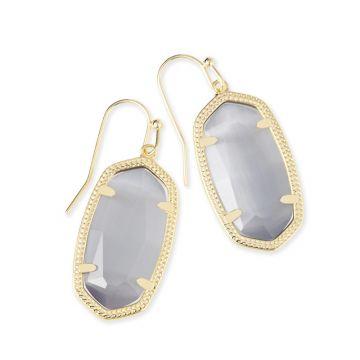 Kendra Scott Dani Gold Earrings in Slate
