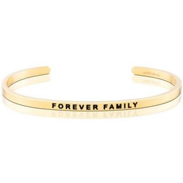 MantraBand Yellow Gold Forever Family Cuff Bracelet