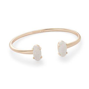 Kendra Scott 14 KTRose Gold Plated Edie Cuff Bracelet in Iridescent Drusy