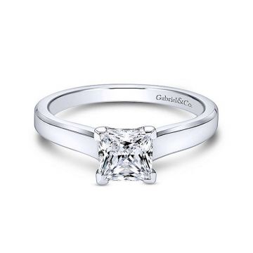 Gabriel & Co 14K White Gold Enid Solitaire Diamond Engagement Ring