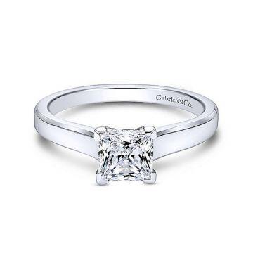 Gabriel & Co 14K White Gold Enid Solitaire Diamond Engagement Ring