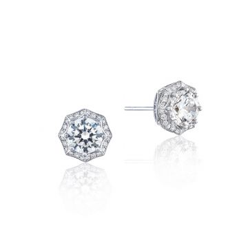 Tacori Platinum White Tacori Diamond Jewelry Stud Earring