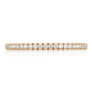 Tacori 18k Rose Gold Petite Crescent Anniversary Diamond Women's Wedding Band