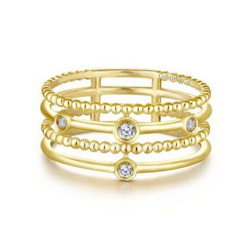 Gabriel & Co. 14k Yellow Gold Constellations Diamond Ring