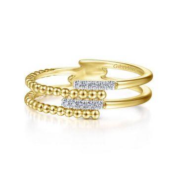 Gabriel & Co. 14k Yellow Gold Bujukan Diamond Ring