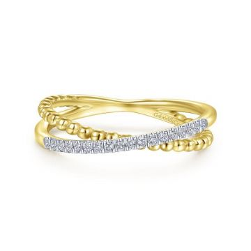 Gabriel & Co. 14k Yellow Gold Bujukan Diamond Ring