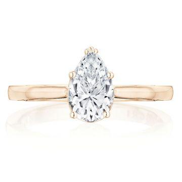 Tacori 14k Rose Gold Coastal Crescent Solitaire Diamond Engagement Ring