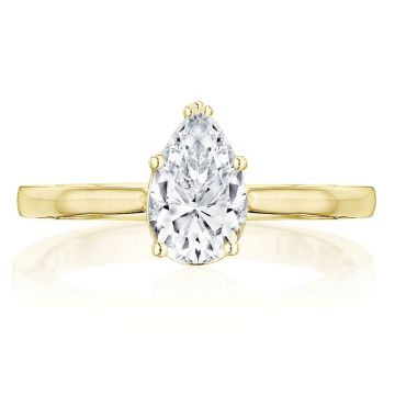 Tacori 14k Yellow Gold Coastal Crescent Solitaire Diamond Engagement Ring