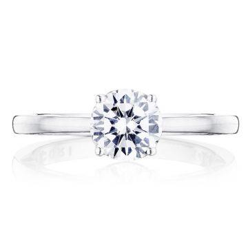 Tacori 14k White Gold Coastal Crescent Solitaire Diamond Engagement Ring