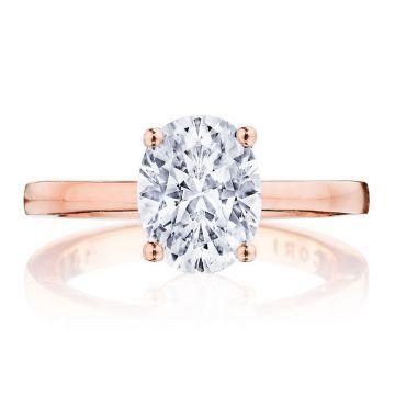 Tacori 14k Rose Gold Coastal Crescent Diamond Solitaire Engagement Ring