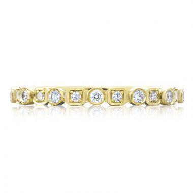 Tacori 18k Yellow Gold Sculpted Crescent Anniversary Diamond Women's Wedding Band