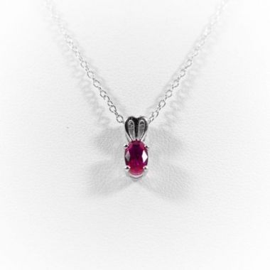 La Masters Couture Sterling Silver Ruby Pendant