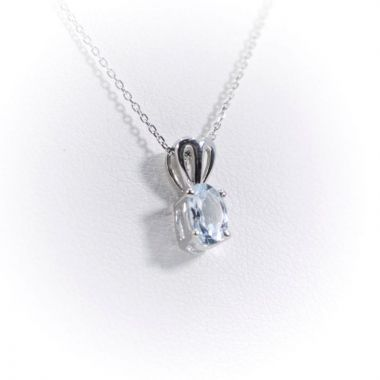 La Masters Couture Sterling Silver Auquamarine Pendant