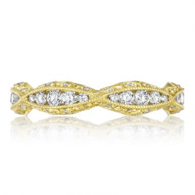 Tacori 18k Yellow Gold Classic Crescent Eternity Diamond Women's Wedding Band
