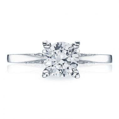 Tacori 18k White Gold Simply Tacori Diamond Solitaire Engagement Ring