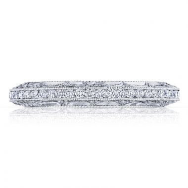 Tacori Platinum Reverse Crescent Anniversary Diamond Women's Wedding Band