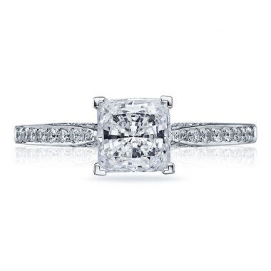Tacori 18k White Gold Dantela Straight Diamond Engagement Ring