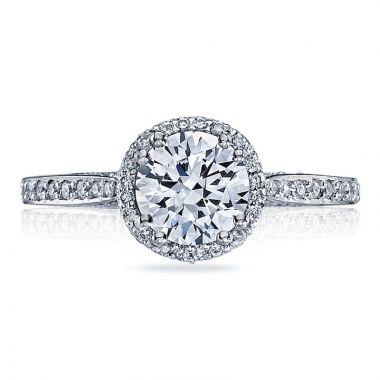 Tacori Platinum Dantela Halo Diamond Engagement Ring