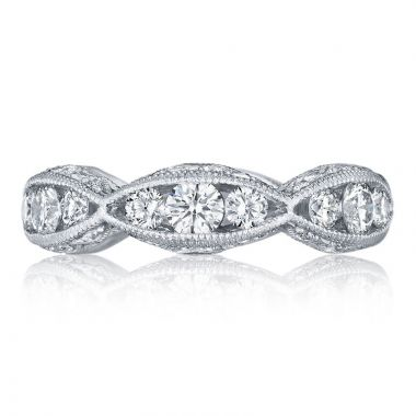 Tacori Platinum Classic Crescent Anniversary Diamond Women's Wedding Band