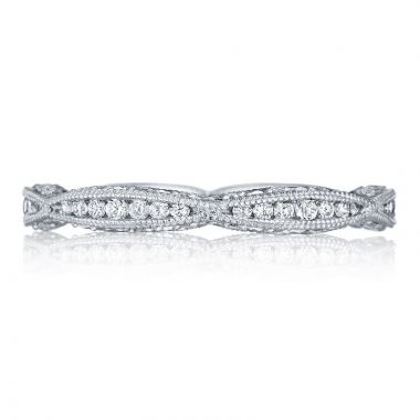 Tacori Platinum Classic Crescent Eternity Diamond Women's Wedding Band