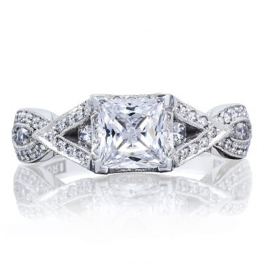 Tacori Platinum  Ribbon Criss Cross Diamond Engagement Ring