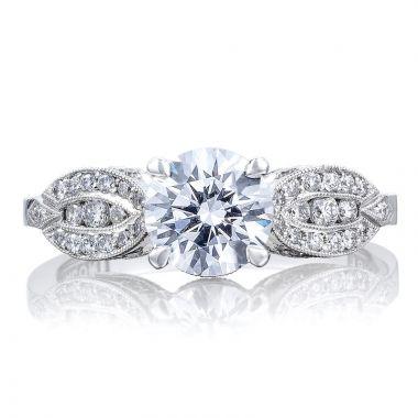 Tacori 18k White Gold Ribbon Straight Diamond Engagement Ring