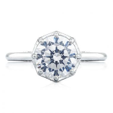Tacori 18k White Gold Simply Tacori Solitaire Diamond Engagement Ring