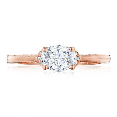 Tacori 18k Rose Gold Simply Tacori Solitaire Diamond Engagement Ring