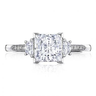 Tacori 18k White Gold Simply Tacori 3 Stone Diamond Engagement Ring
