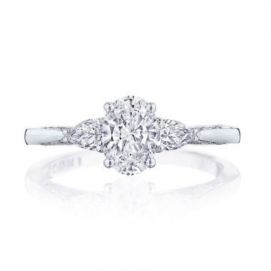 Tacori Platinum Simply Tacori 3 Stone Diamond Engagement Ring