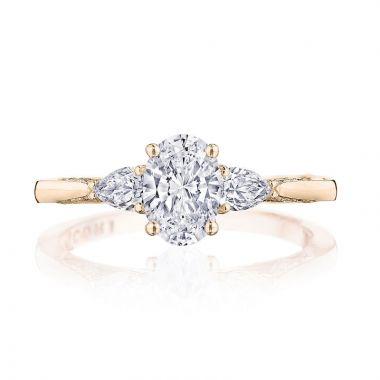 Tacori 18k Rose Gold Simply Tacori 3 Stone Diamond Engagement Ring