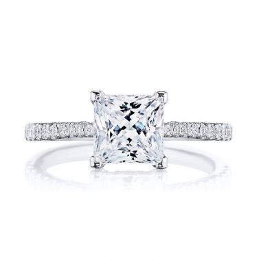 Tacori Platinum Simply Tacori Straight Diamond Engagement Ring