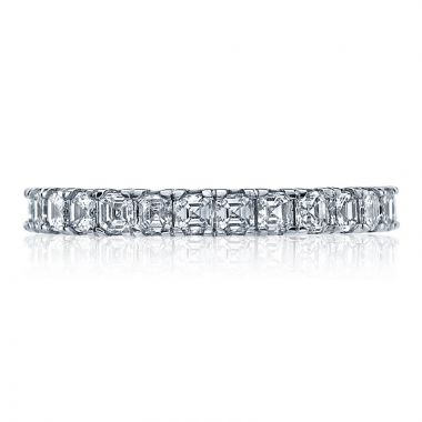 Tacori Platinum Clean Crescent Eternity Diamond Women's Wedding Band