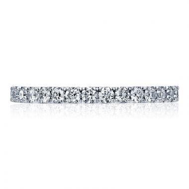 Tacori Platinum Clean Crescent Eternity Diamond Women's Wedding Band