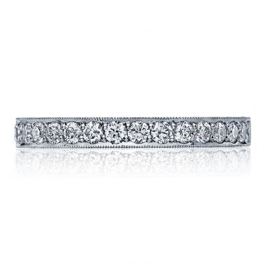 Tacori Platinum Sculpted Crescent Anniversary Diamond Women's Wedding Band