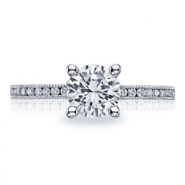 Tacori 18k White Gold Sculpted Crescent Straight Diamond Engagement Ring