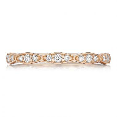 Tacori 18k Rose Gold Sculpted Crescent Anniversary Diamond Women's Wedding Band