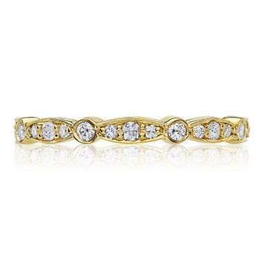Tacori 18k Yellow Gold Sculpted Crescent Eternity Diamond Women's Wedding Band
