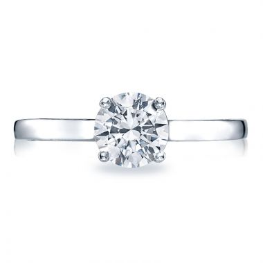Tacori Platinum Sculpted Crescent Solitaire Diamond Engagement Ring