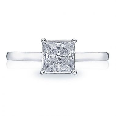 Tacori 18k White Gold Sculpted Crescent Solitaire Diamond Engagement Ring