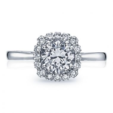 Tacori Platinum Full Bloom Halo Diamond Engagement Ring