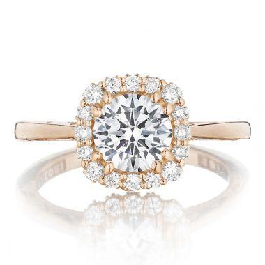 Tacori 18k Rose Gold Full Bloom Halo Diamond Engagement Ring
