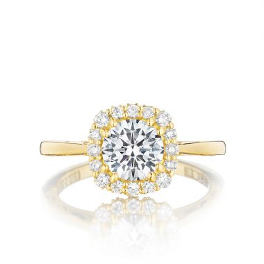 Tacori 18k Yellow Gold Full Bloom Halo Diamond Engagement Ring