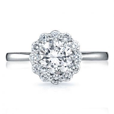 Tacori 18k White Gold Full Bloom Halo Diamond Engagement Ring